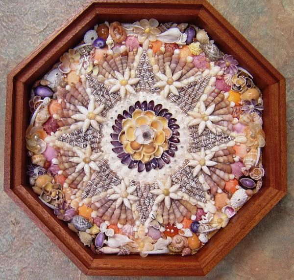 """Beautiful shell art- this is a """"Sailor""""s Valentine"""".Want to know more about these."""