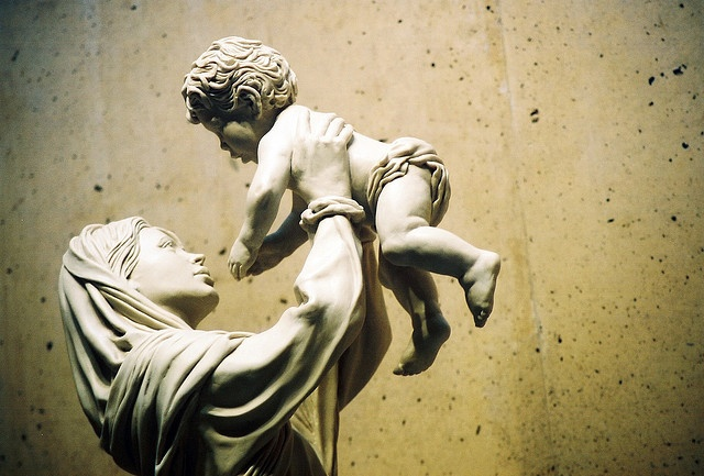Mother Mary and Baby Jesus, LA Cathedral
