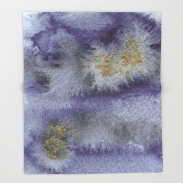 Mare Purple Throw Blanket. Violet watercolor ombre fading
