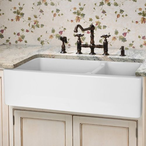 apron front sink existing cabinet white kitchen ikea kraftmaid