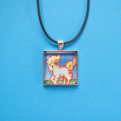 Pokemon Pendant - Ponyta only $8 @ OMG! Cute Kitten - Australian Handmade Jewellery