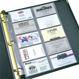 Business card sheet protectors also work well in DIY coupon organizers