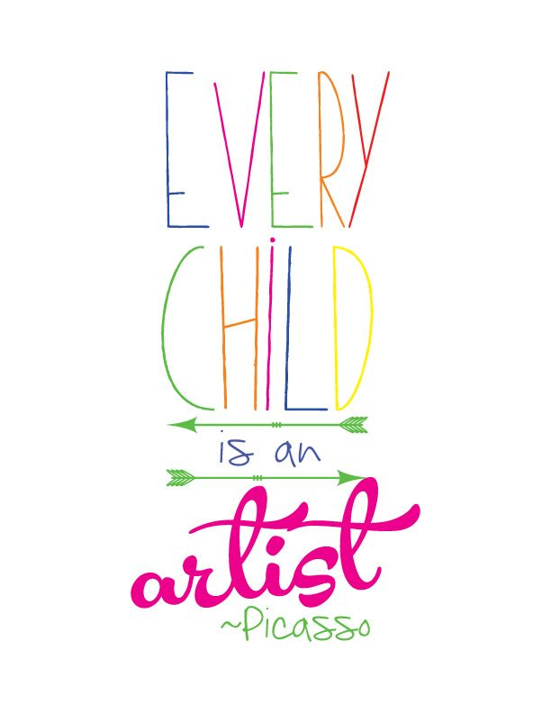 FREE Every Child Is An Artist Printable! Make it wall art, a treat bag, and more! Great for homeschoolers, or art teachers! – Güldane Kartal