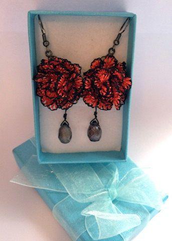 Red Caryophyllus Turkish Needle Earring on Etsy