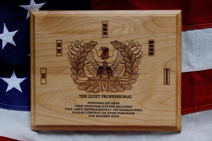 U.S. Army Chief Warrant Officer Plaque, Rising Eagle, The