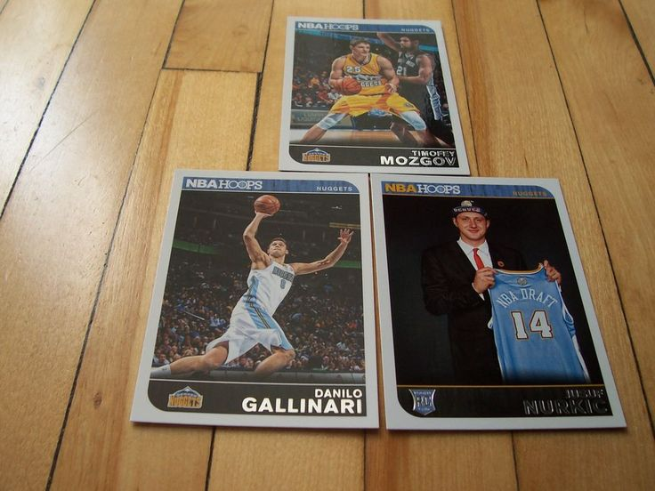 DANILO GALLINARI JUSUF NURKIC RC TIMOFEY MOZGOV 2014-15 Hoops Denver Nuggets Lot