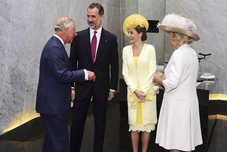 Sus Majestades los Reyes junto a Sus Altezas Reales el Príncipe de Gales y la Duquesa de Cornualles    Londres, 12.07.2017