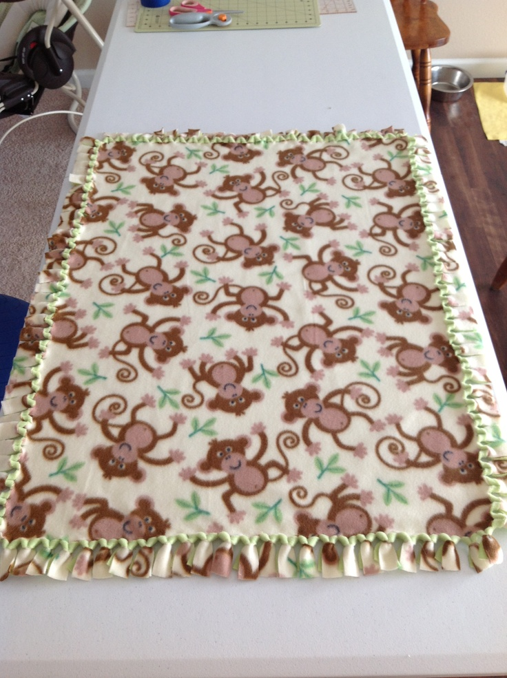 how to make a baby fleece blanket no sewing