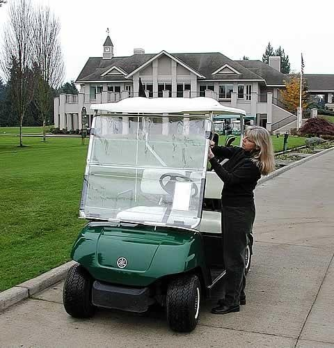 CartShield Golf Cart Windshield - http://www.golfhq.com/accessories/on-course/cold-weather-gear/cartshield-golf-cart-windshield.html
