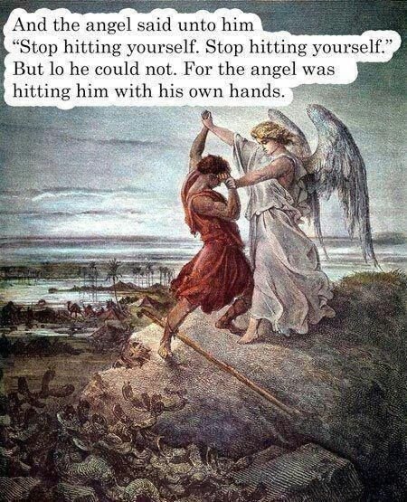 The heavenly bullying:   28 Pictures That Will Make You Laugh Every Time