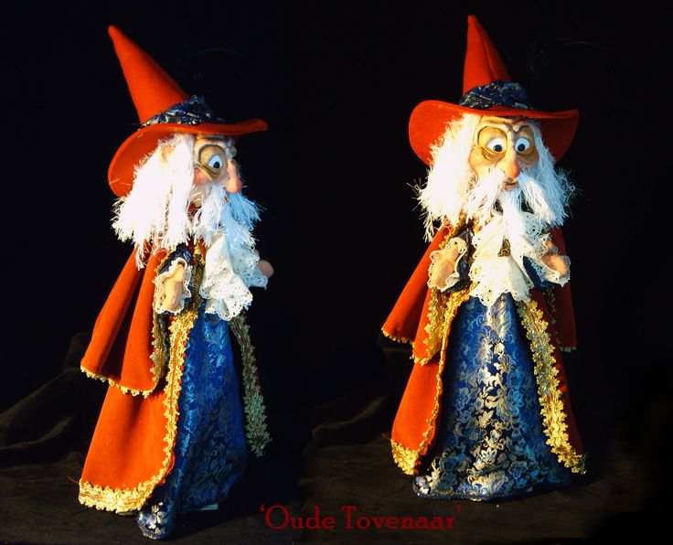 Old Wizard traditional Handpuppet made by Thomas Weber for a cliënt - 'Oude tovenaar'  traditionele handpop gemaakt voor klant.