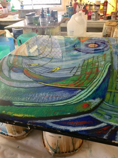 Will Resin adhere to Encaustic? Blog by Gayle Reichelt