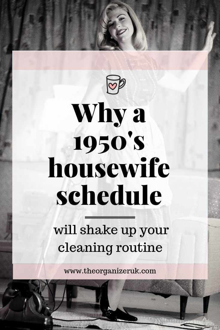 cf3f5905167d72ee334c761411f2233a why you should take a look at this 1950s cleaning schedule #cleaning #cleaningt...
