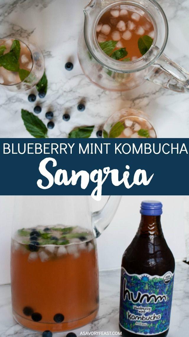 Can You Get Drunk Off Kombucha Blueberry Mint Kombucha Sangria Recipe Blueberry Mint Sangria Recipes Kombucha