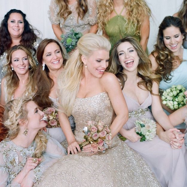 I got Jessica Simpson! Which Celebrity Wedding Dress Should Be Yours?