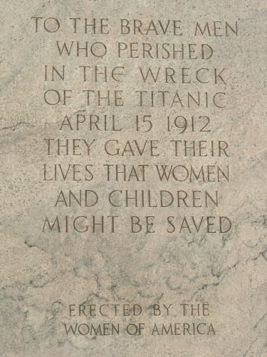 The Titanic Women Memorial is located in Washington DC in an obscure corner near the WaterFront Metro Station.