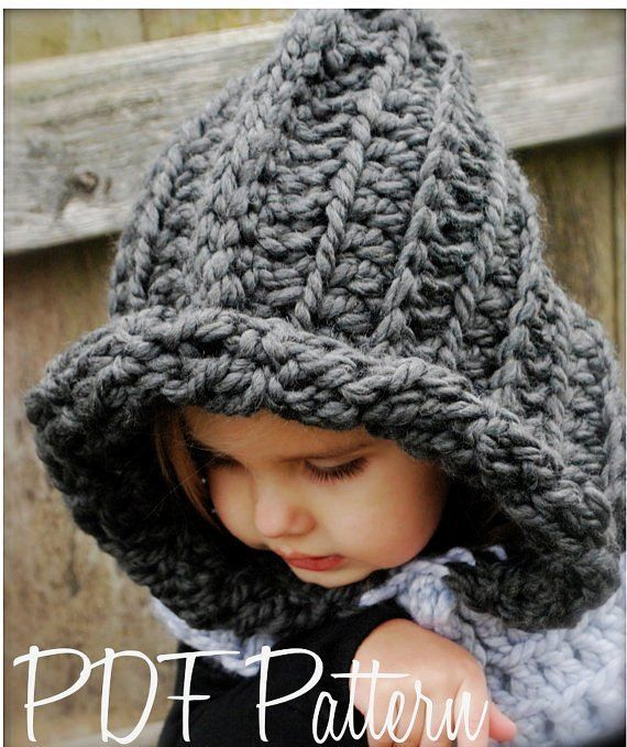 Free Crochet Pattern Childrens Cowl : free crochet childrens hoods Crochet PATTERN-The ...