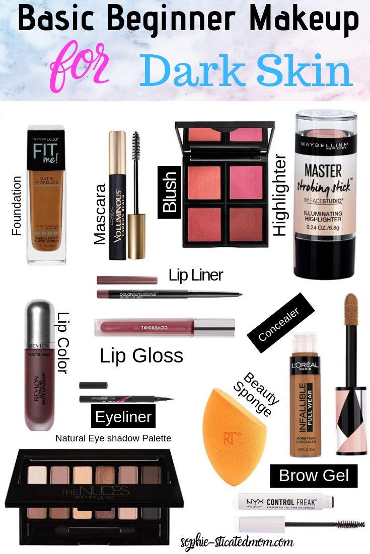 Basic Beginner Makeup Kit for Black women darkskingirls