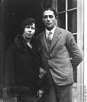 Princess Viktoria of Prussia with her 2nd husband, Alexander Zoubkoff (1901-1936), a Russian refugee 35 years her junior.  Zoubkoff paid little attention to Viktoria and squandered most of the money she had left after the war.  Viktoria planned to divorce Zoubkoff but died from pneumonia before she could do so.