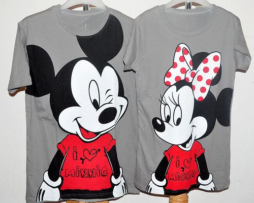 Adorable Mickey and Minnie shirts