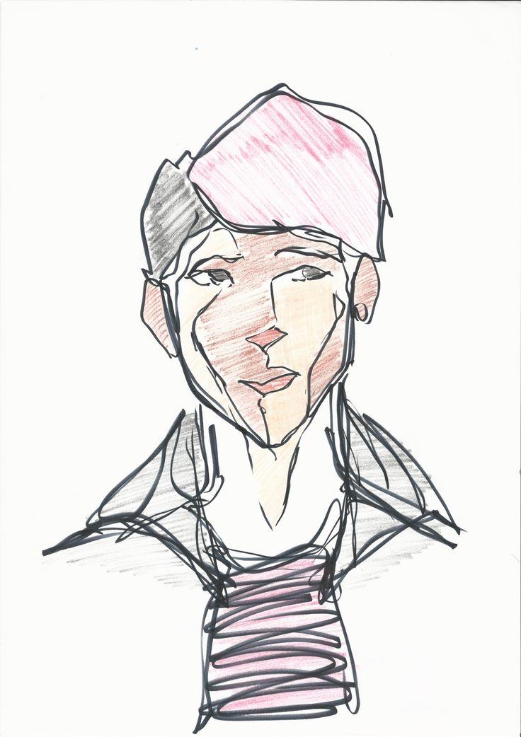 Self Portrait 1 ~ Continuous Contour Drawing