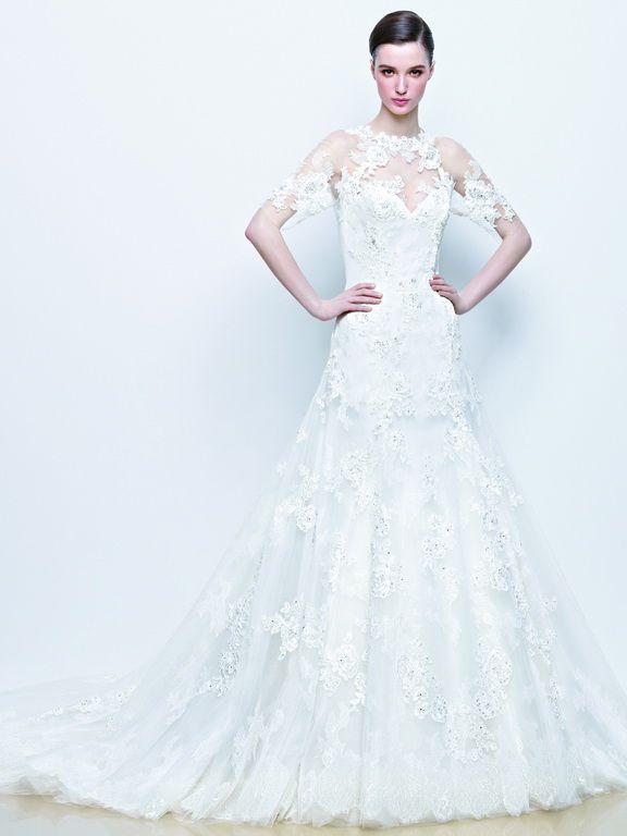Enzoani wedding dress collection 2014 - Idona lace wedding dress