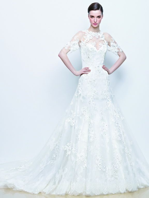 Enzoani wedding dress collection 2014 - Idona lace wedding dress