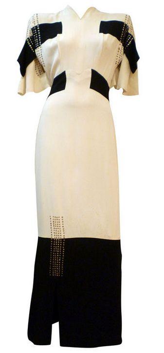 Dress    Gilbert Adrian, 1940s    1stdibs.com
