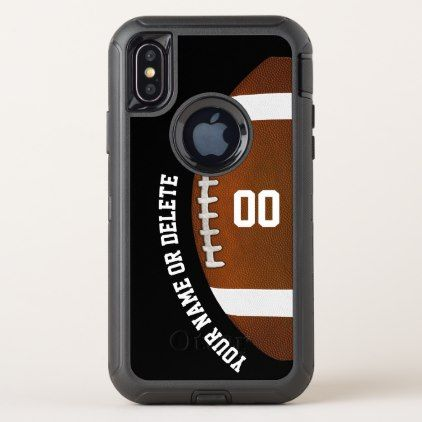 Otterbox Defender Personalized Football Phone Case - boy gifts gift ideas diy unique