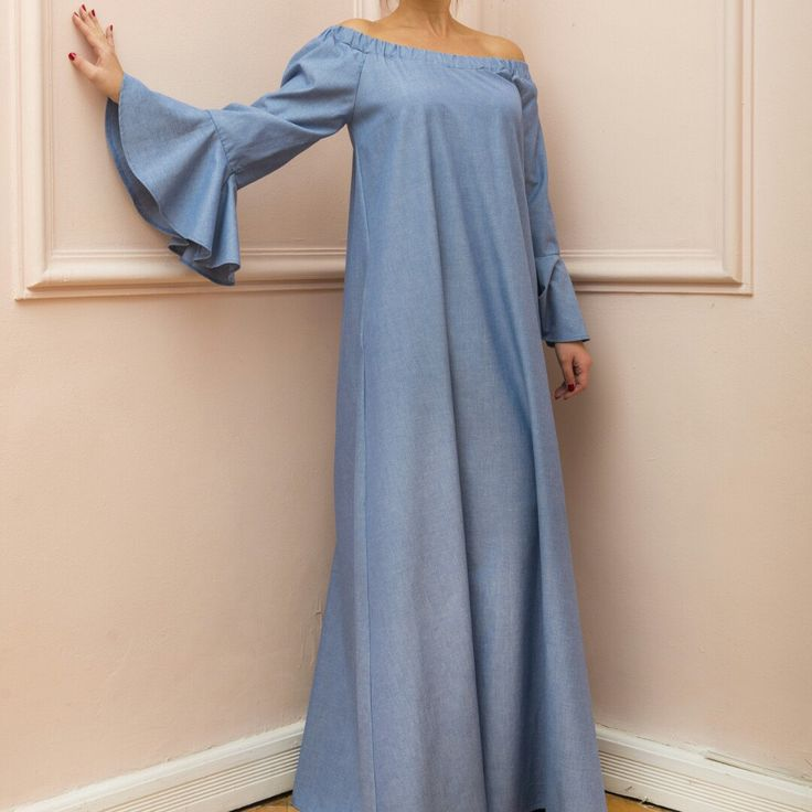 New SS16 Denim Boho Maxi Dress! Super chic! The fabric is very soft and you will feel it very comfy! Enjoy!
