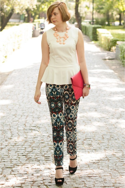 nice cream blouse: Cream Blouses, Nice Cream, Peplum Blouses, Fashion Style, Pants, Peplum Color Pink, Navy, Photo, Black