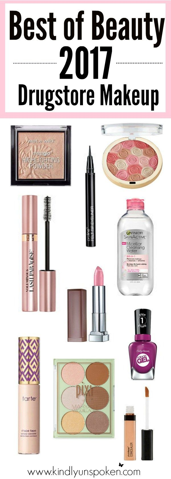 Check out the Best Affordable Makeup & Beauty Products of 2017, including best-selling drugstore makeup items and affordable beauty products that any beauty lover will want to have in their makeup collection!