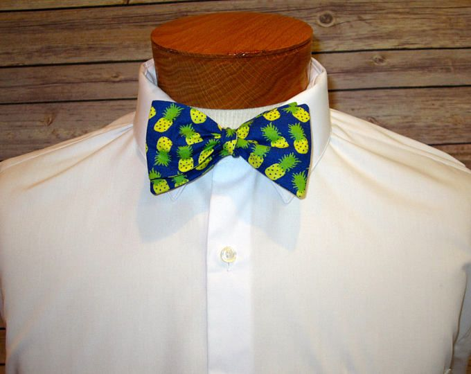 The Pineapple Bowtie, Bow Tie, Tropical Bowtie, Tie, Father's Day, Tiki, Boyfriend Gift, Husband GIft, Novelty Ties, Pineapples, Pineapple