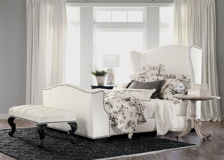 Kayla Bed with Tall Footboard