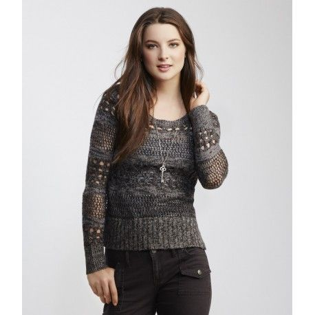 Saco Aeropostale open knit Sweater