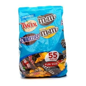 Mars Fun Size Variety Pack Snickers, Twix, and M