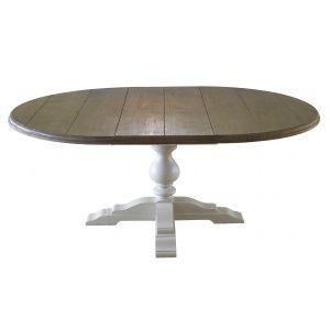Masi runt matbord - Antikvit / antikbehandlad ask, 10495,Sv Möbelhuset