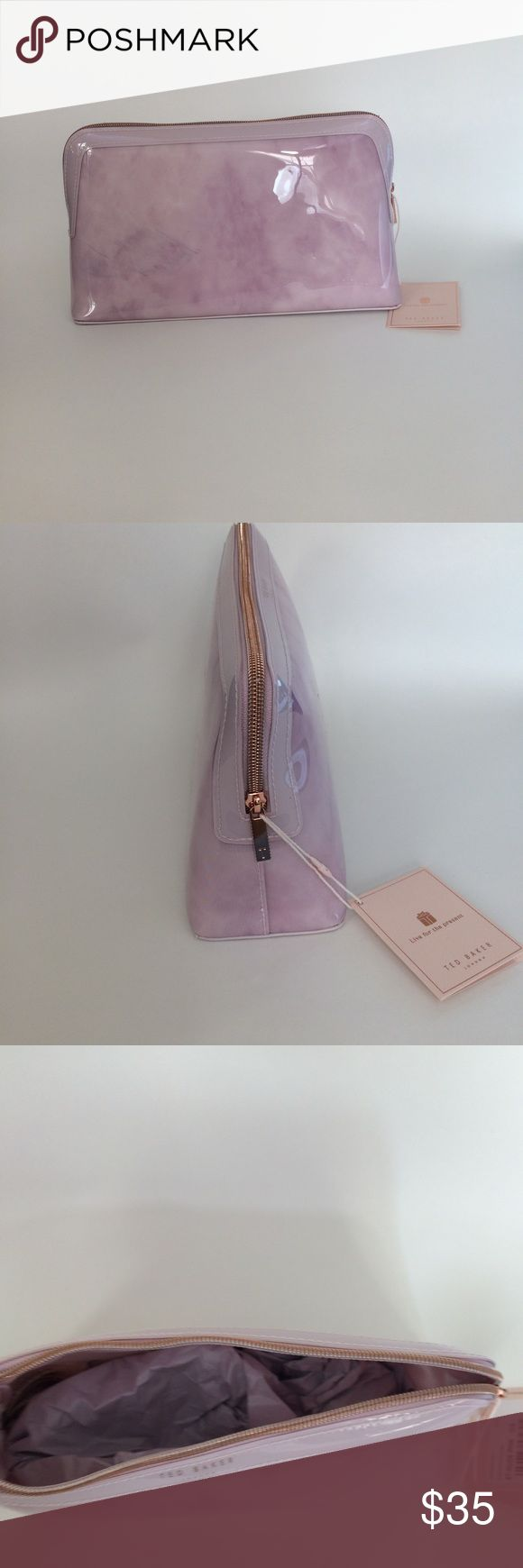 Ted Baker London Tristyn Rose Quartz wash Bag Brand new! Ted Baker London Tristyn Rose Quartz bag. Top zipper closure. Satin lining. Unique quartz looking pattern. Shiny finish. Structured silhouette with flat base for stability...won't tip over when you put it down. Color: Nude pink           Have a question leave it in the comments. Ted Baker London Bags