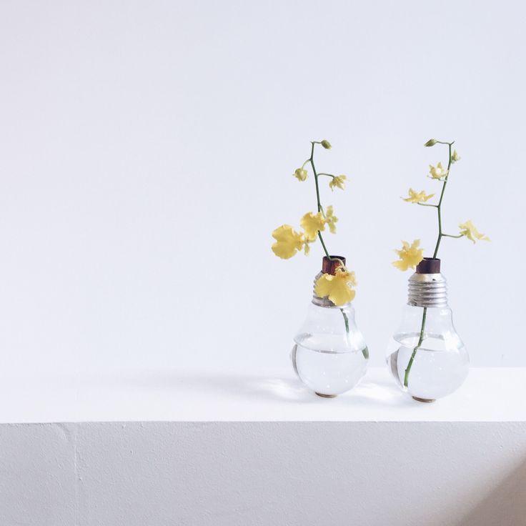 DIY vases ampoule Emilie Guelpa du blog Griottes palette culinaire.