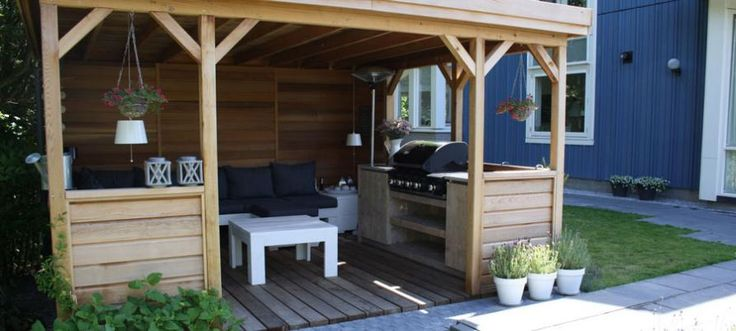 houten overkapping met steigerhouten buitenkeuken interieur inspiratie pinterest verandas. Black Bedroom Furniture Sets. Home Design Ideas