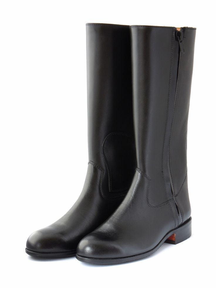 BLACK LEATHER TRACK BOOTS Tough, high quality, premium grade leather track boots. Perfect for track and stable work. Suitable for jockeys and stablehands.  Available at www.murtaghridingboots.com.au.