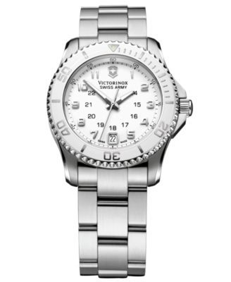 Victorinox Swiss Army Watch, Women's Maverick GS Stainless Steel Bracelet 34mm 249051