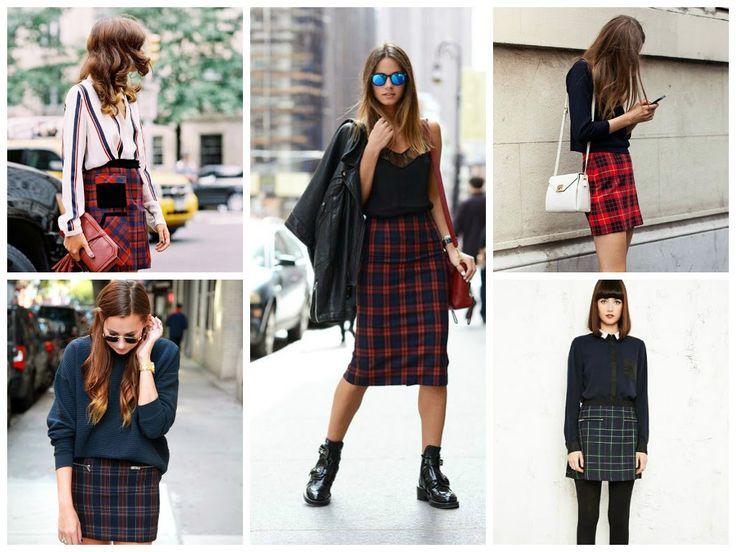http://trendygiulliete.blogspot.com.ar/2015/03/manual-de-uso-faldas-de-invierno.html  #Skirt #tartan #fashion #moda #tendencias #streetstyle #tendencias2015