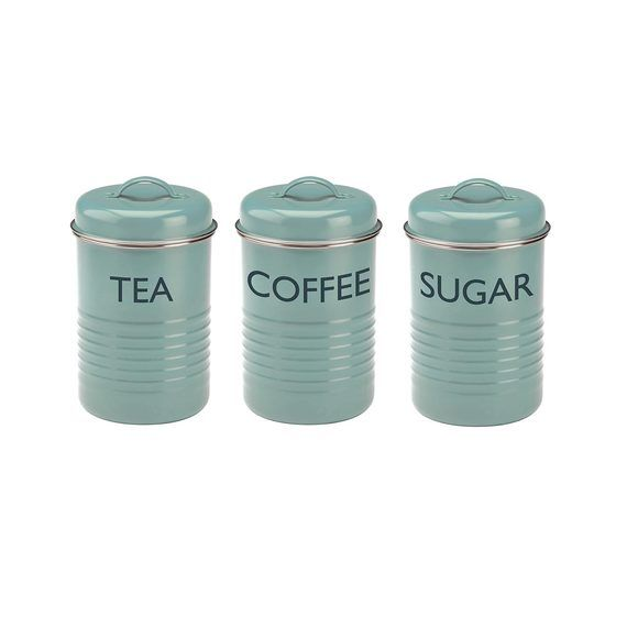 Typhoon Summer House Set of 3  Canisters-Tea/Coffee/Sugar