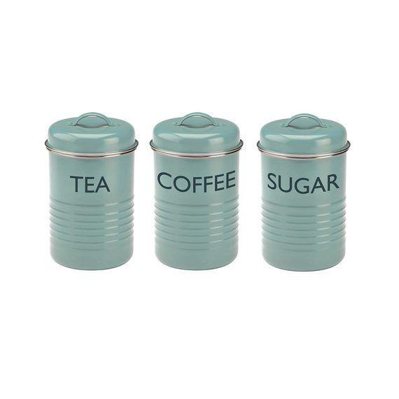 Typhoon Summer House Set of 3  Canisters-Tea/Coffee/Sugar