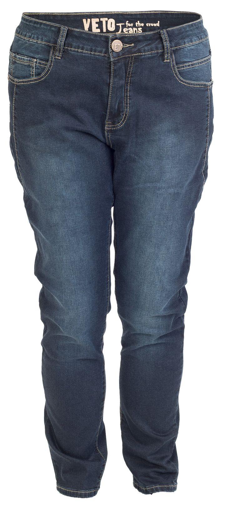 De sejeste Klassiske Mørke Blå Jeans Veto Modetøj til Damer i behageligt materiale