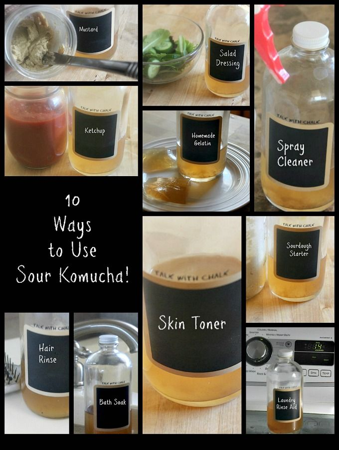 Have too much kombucha? Is your batch too sour? No need to toss it. Consider these DIY ideas for making the most of your homemade kombucha!
