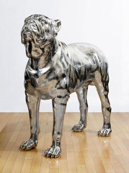 NEOPOLITAN MASTIFF - White bronze - 62.2 x 56.3 x 22.4 in_Mauro Corda