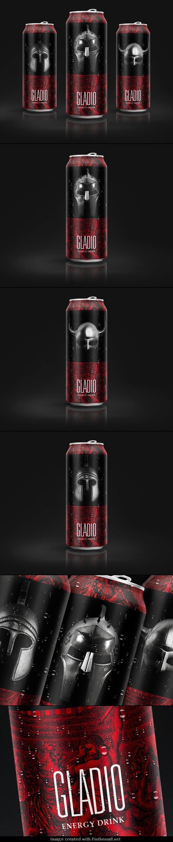GLADIO (Concept) Interesting energy drink #packaging PD