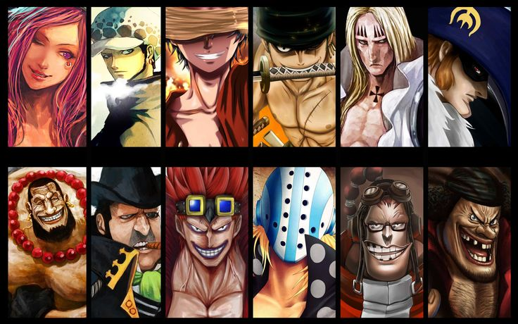 The badass 11 supernovas A.K.A The Worst Generation Jewelry,Law,Luffy,Zoro,Kid,KIllerWhy is blackbeard in this